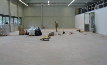 Parkettverlegung Werkhalle